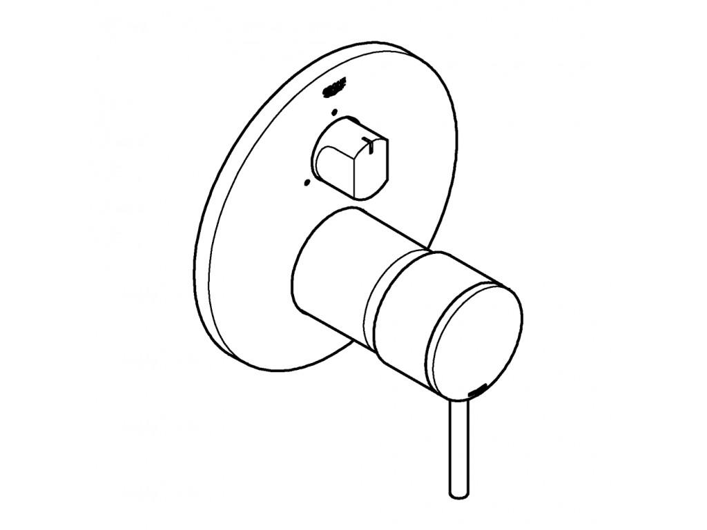 Atrio   3 yönlü hamam qarışdırıcısı