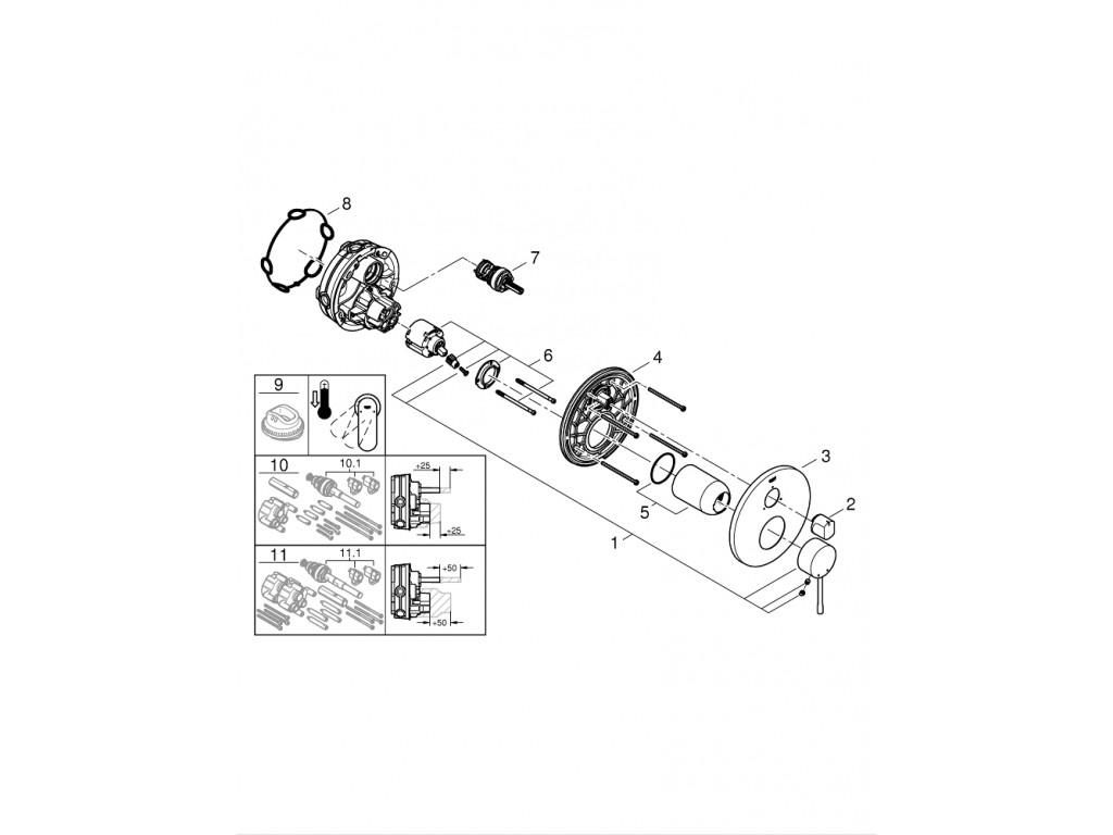 Essence   3 yönlü hamam qarışdırıcısı