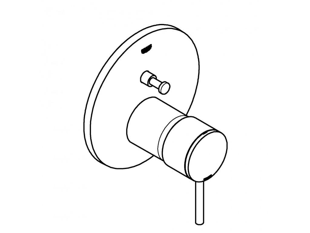 Atrio divar ici hamam/duş qarışdırıcısı