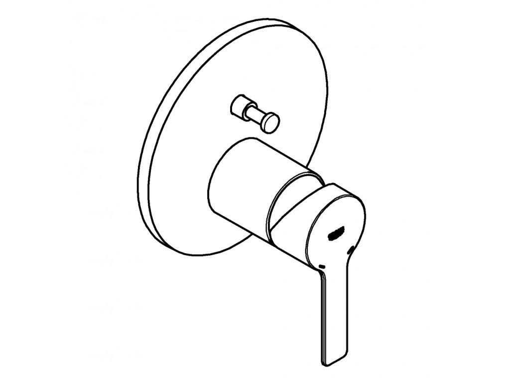 Lineare divar ici hamam/duş qarışdırıcısı