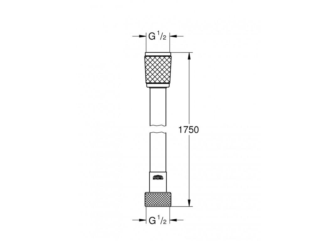 Rotaflex Twistfree duş şlangı 1750