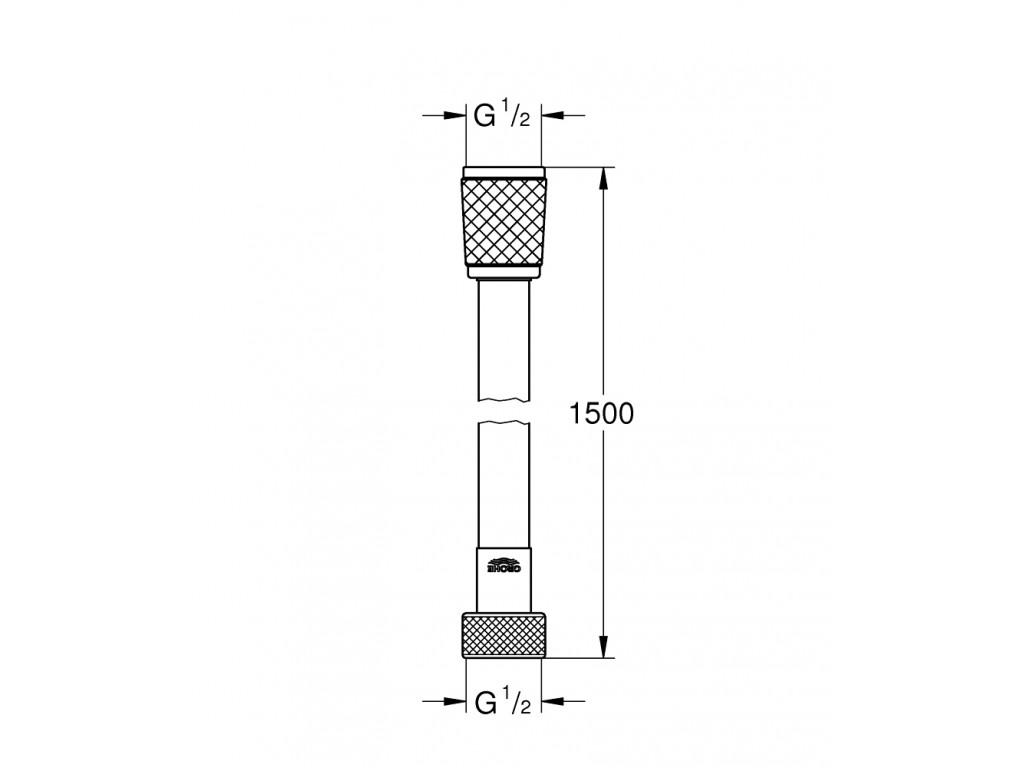 Rotaflex Twistfree duş şlangı 1500