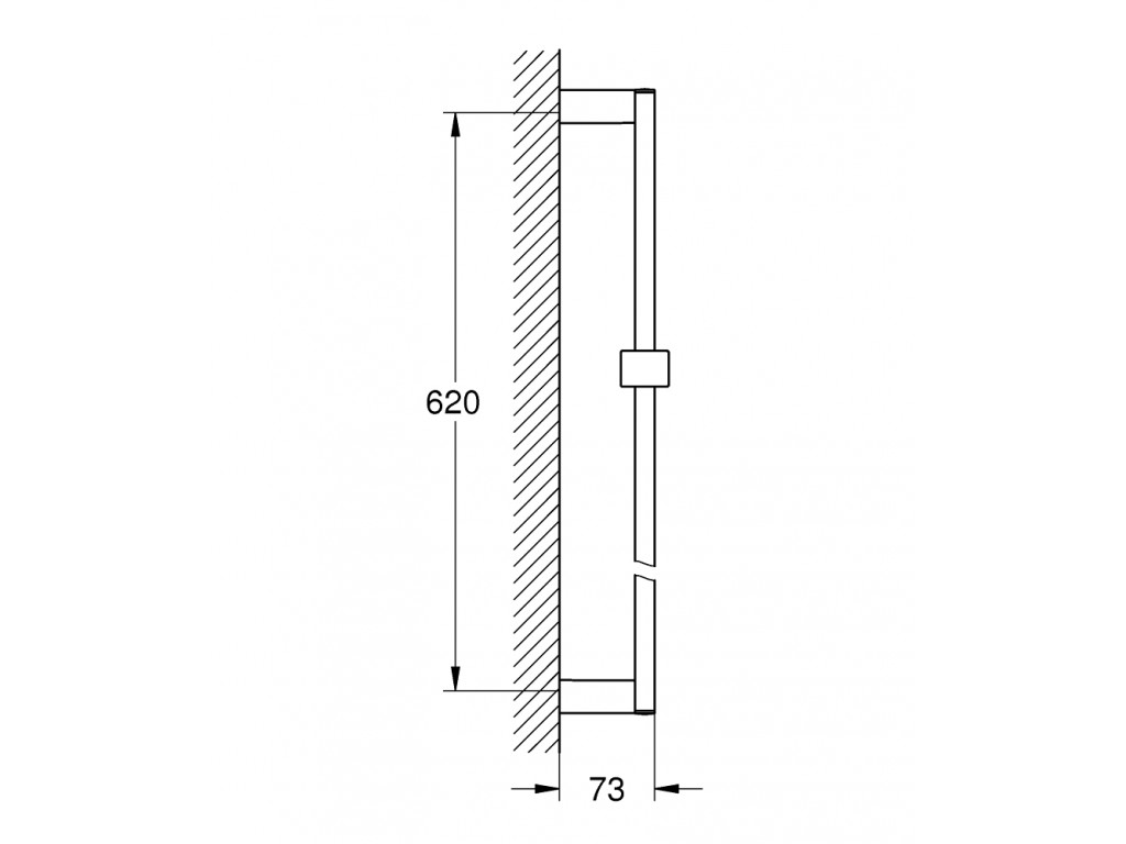 Euphoria Cube Duş sürgüsü, 600 mm