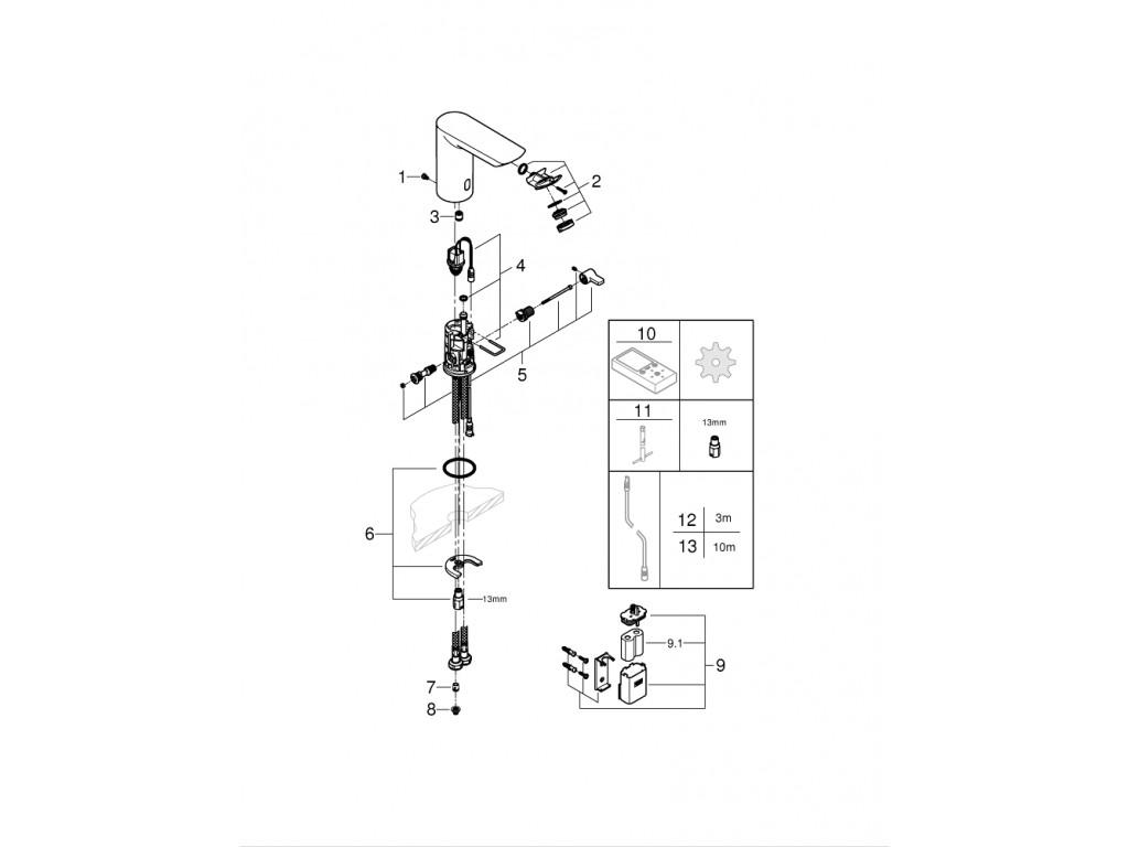 Bau Cosmopolitan E Fotoselli çanaq qarışdırıcısı 1/2