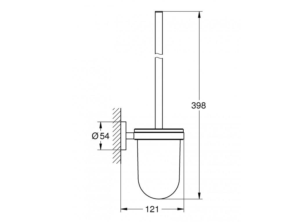 Essentials tualet fırçası seti