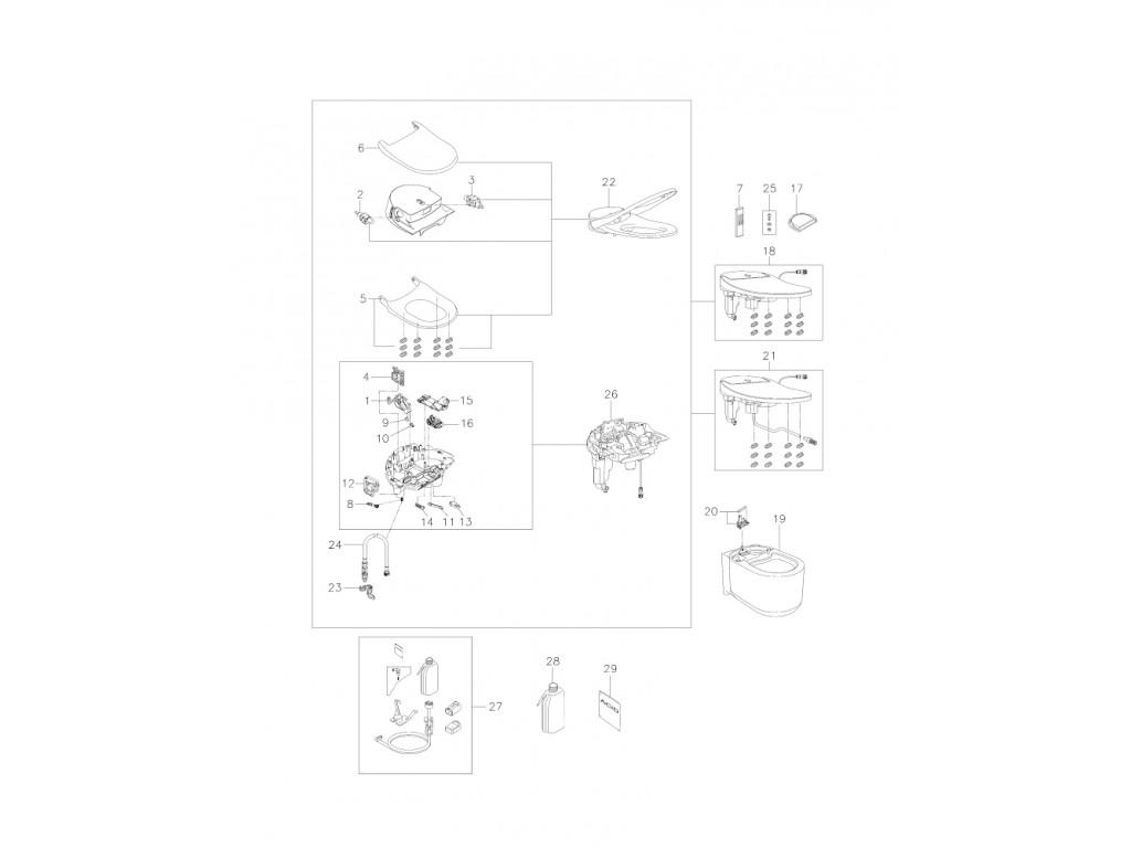 GROHE Sensia Arena Akıllı unitaz sistemi